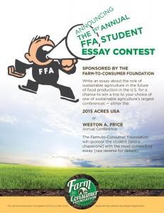 2014 Farm to Consumer FFA contest